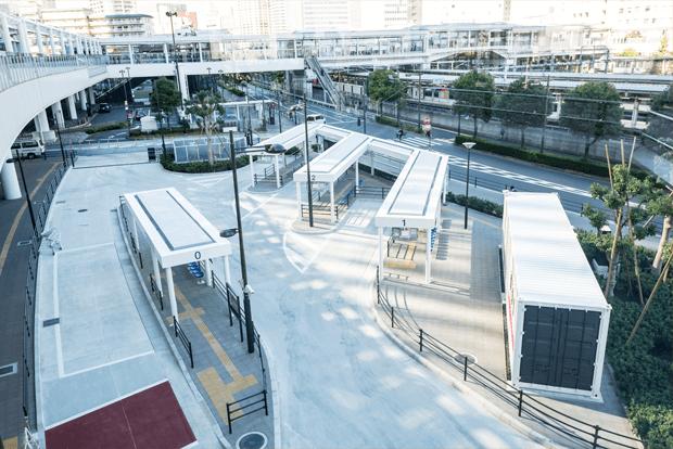 東京・大崎駅西口バスターミナル...